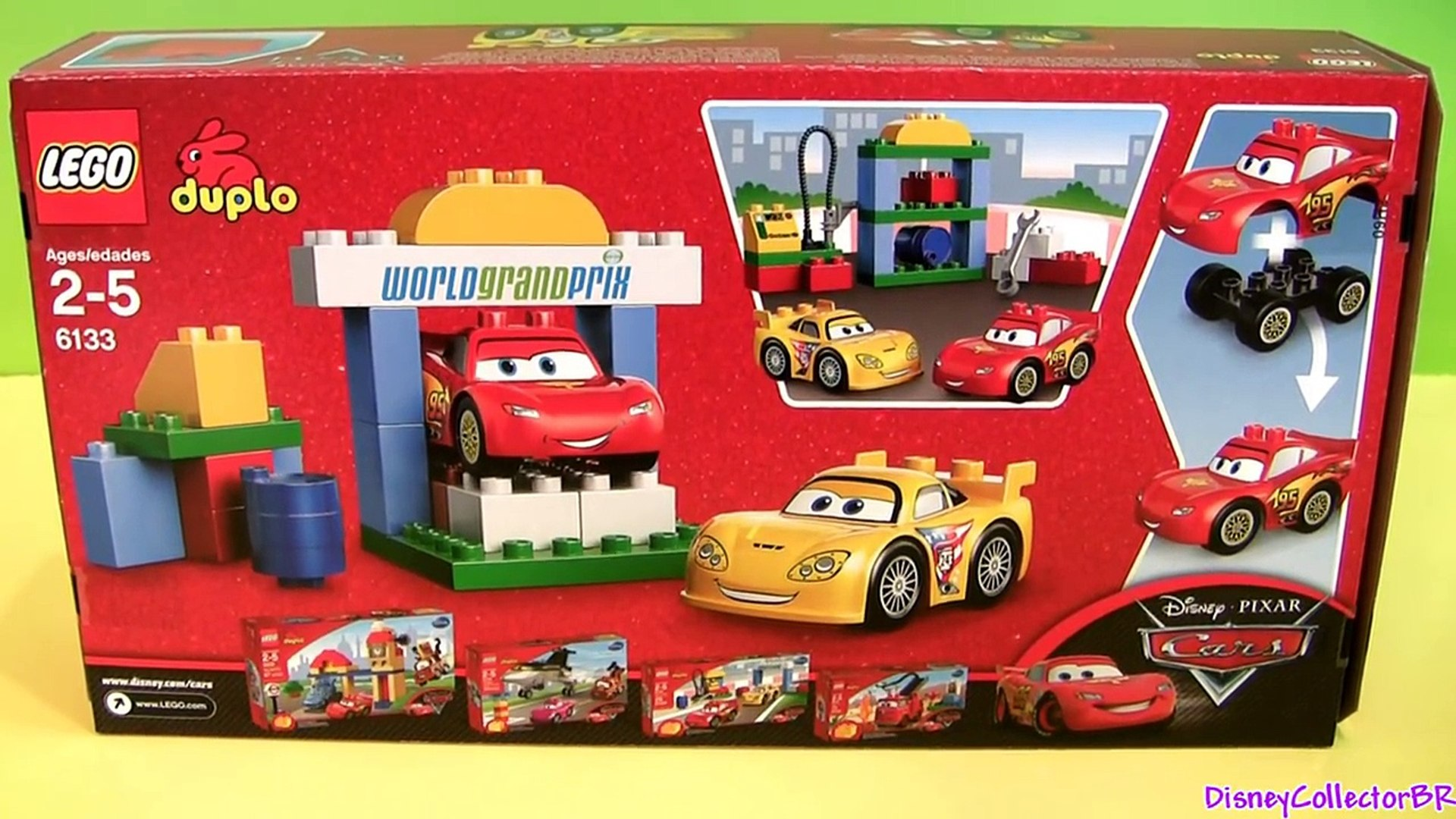 Cars 2 Lego Duplo Race Day Lightning Mcqueen 6133 Jeff Gorvette Disney Builable Toys Pixar Review Dailymotion Video
