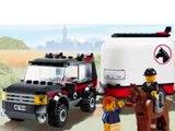 Lego City 4x4 Avec Remorque Pour Chevaux, Jouets Lego Pour Les Enfants