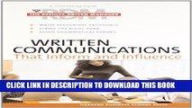 [PDF] Written Communications That Inform and Influence (Results-Driven Manager, The) Full Colection