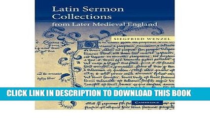 [PDF] Latin Sermon Collections from Later Medieval England: Orthodox  Preaching in the Age of