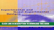 [Read PDF] Experimental and Quasi-Experimental Designs for Generalized Causal Inference Ebook Free