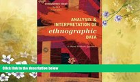 Online eBook Analysis and Interpretation of Ethnographic Data: A Mixed Methods Approach