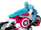 Spiderman et Captain America Motos Jouets, Spiderman Jouet, Captain America Jouet