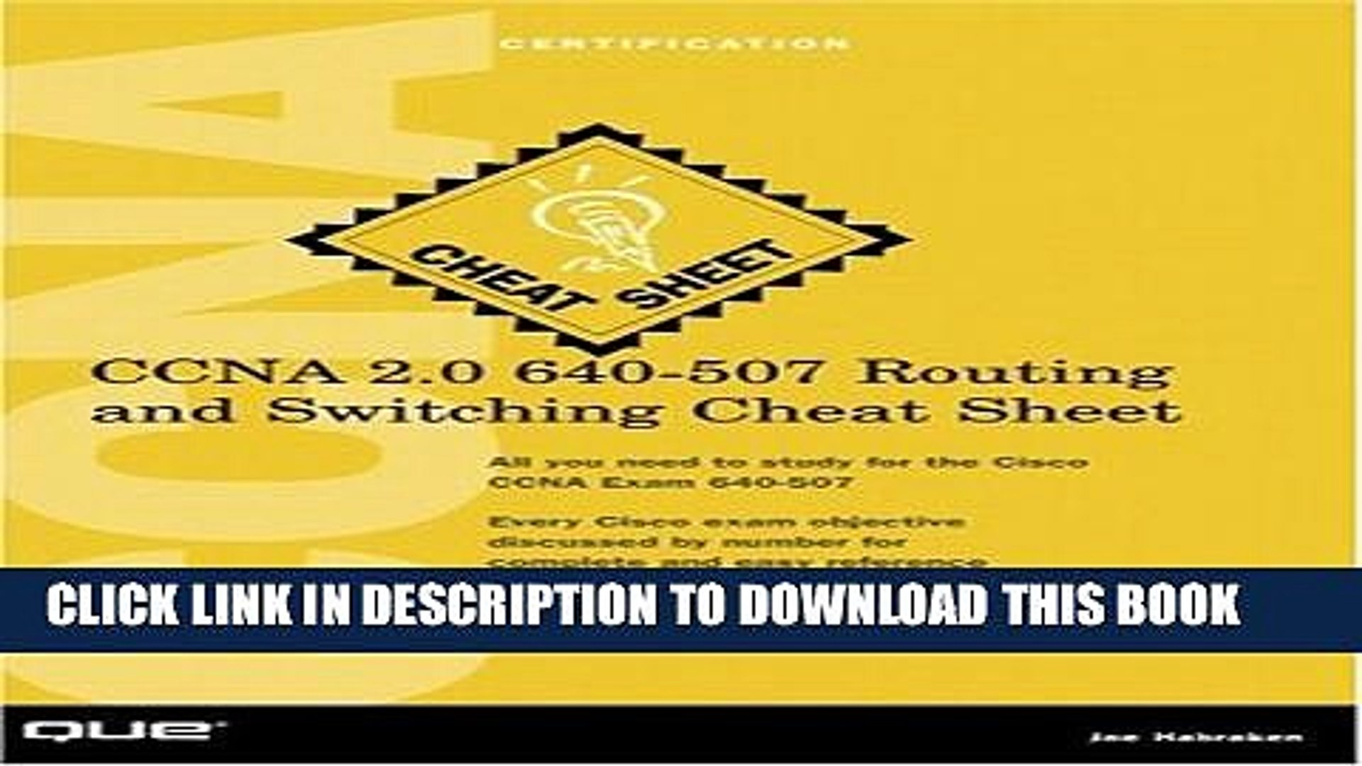 [PDF] CCNA 2 0 640-507 Routing and Switching Cheat Sheet Popular Online