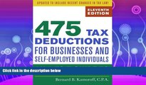 complete  475 Tax Deductions for Businesses and Self-Employed Individuals: An A-to-Z Guide to