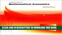 [PDF] Foundations of Mathematical Economics Popular Colection