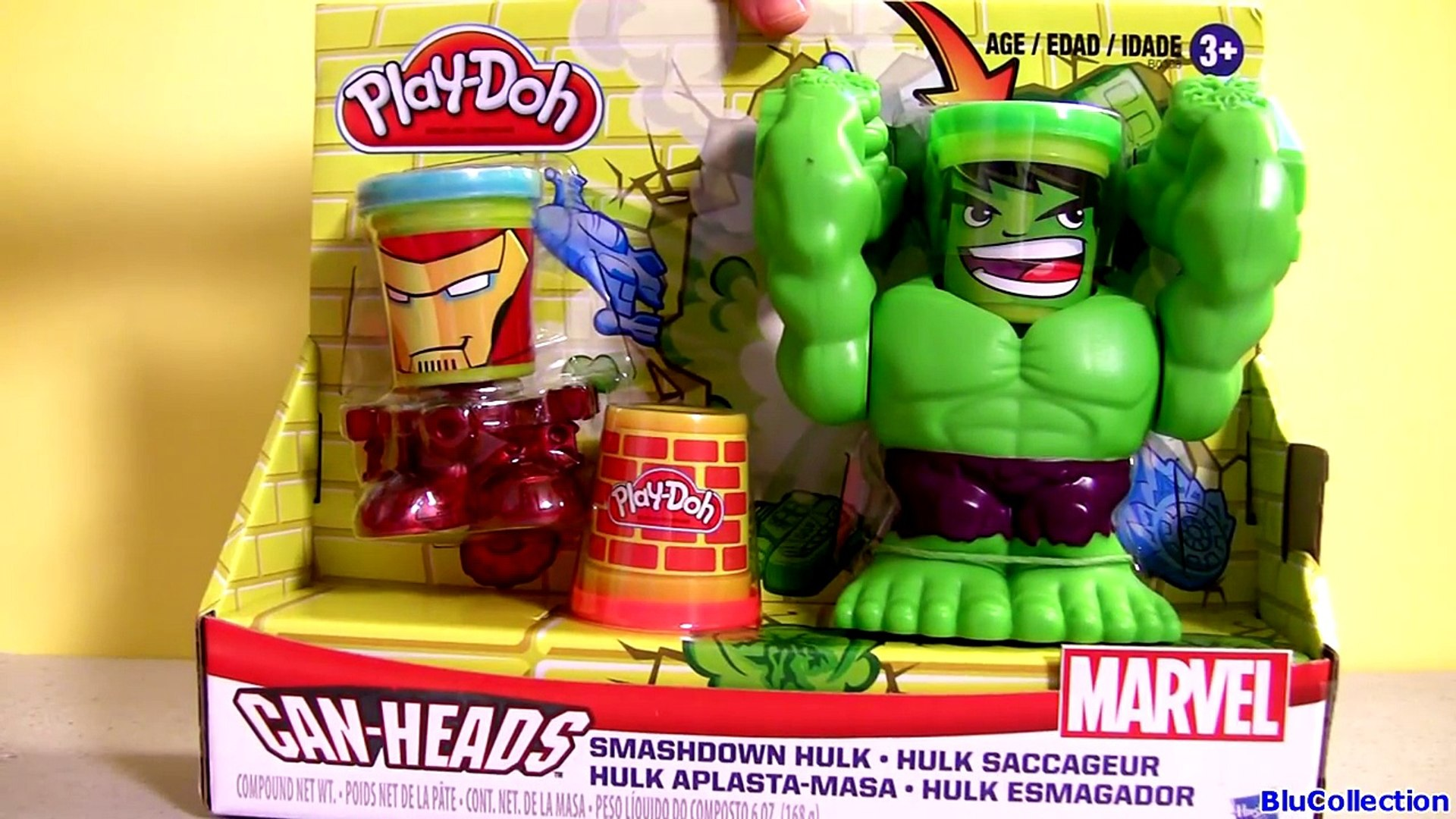PLAY-DOH Marvel Smashdown Can-Heads featuring Hulk Figure