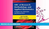 Enjoyed Read ABC of Research Methodology and Applied Biostatistics