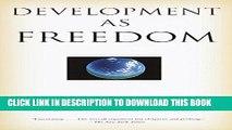[Read PDF] Development as Freedom Download Free