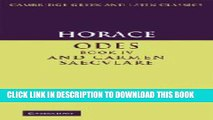 [PDF] Horace: Odes IV and Carmen Saeculare (Cambridge Greek and Latin Classics) Popular Online