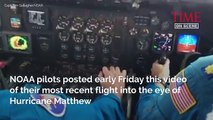 Inside Hurricane Matthew: Watch NOAA Pilots Fly Into The Eye Of The Storm | TIME