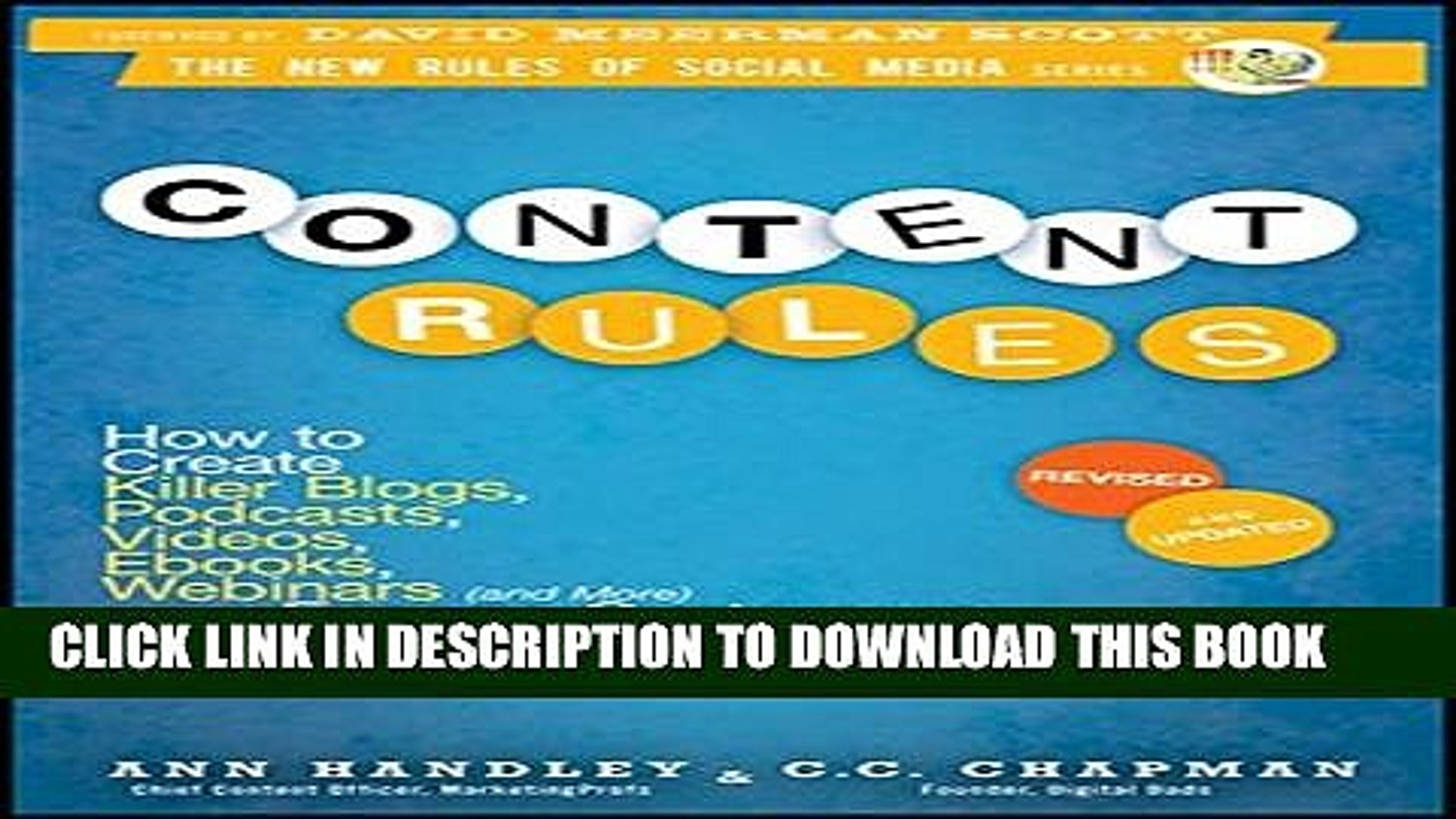 Collection Book Content Rules: How to Create Killer Blogs, Podcasts, Videos, Ebooks, Webinars (and