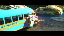 Wheels On The Bus Go Round And Round + Spiderman Toys Story - Nursery Rhymes for Children Kids Songs