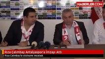 Rıza Çalımbay Antalyaspor'a İmzayı Attı
