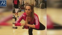 Salman Khan Girlfriend Lulia Vantur Hot Workout Gym Video Footage | AR Entertainments