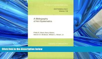 Choose Book A Bibliography of Ant Systematics (UC Publications in Entomology)