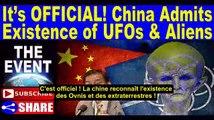 C'EST OFFICIEL ? La Chine reconnaît l'existence des OVNIS et des extraterrestres ?