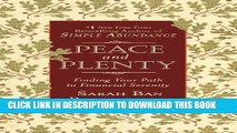 New Book Peace and Plenty: Finding Your Path to Financial Serenity