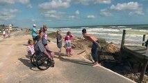 Ouragan Matthew: Flagler Beach, en Floride, découvre les dégâts