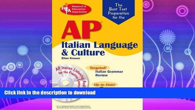 READ  AP Italian Language and Culture w/ Audio CDs (Advanced Placement (AP) Test Preparation)