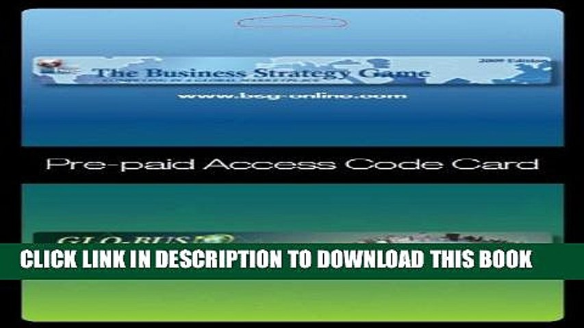 Collection Book Business Strategy Game (BSG) Glo-Bus Pre-paid Access Code Card
