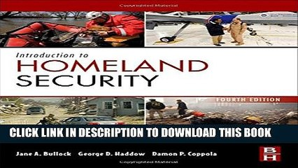 New Book Introduction to Homeland Security, Fourth Edition: Principles of All-Hazards Risk