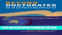 New Book Beyond Doctorates Downunder: Maximising the Impact of Your Doctorate from Australia and