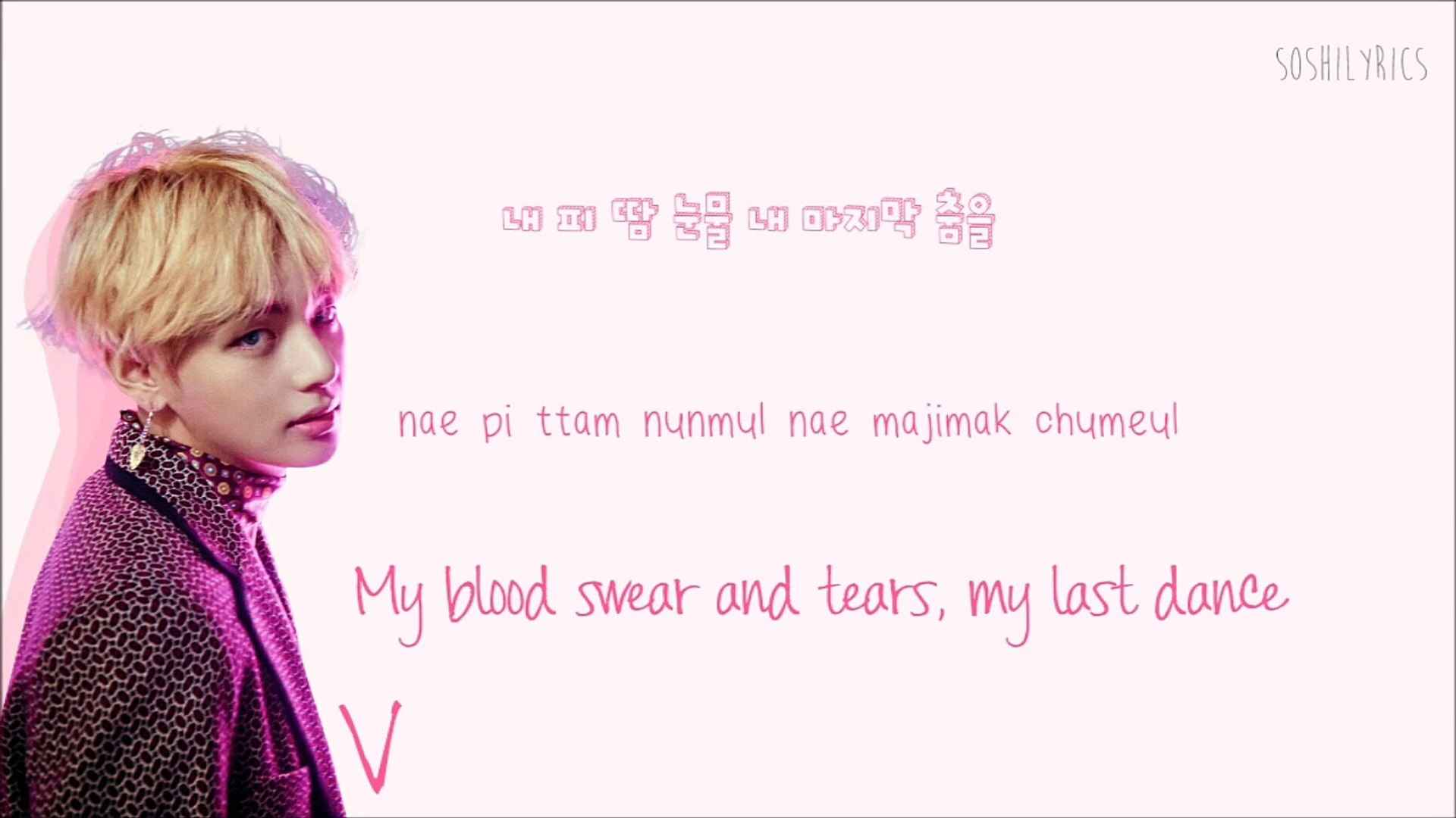 BTS (방탄소년단) Blood Sweat and Tears Lyrics (피 땀 눈물) Han-Rom-Eng Color Coded