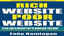 [PDF] Rich Website Poor Website: Insider Reveals What Websites That Make A Lot of Money Do That