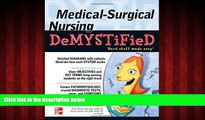 Free [PDF] Downlaod  Medical-Surgical Nursing Demystified (Demystified Nursing)  FREE BOOOK ONLINE