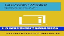 [PDF] Two Roman Hoards from Dura-Europos: Numismatic Notes and Monographs, No. 49 Popular Online