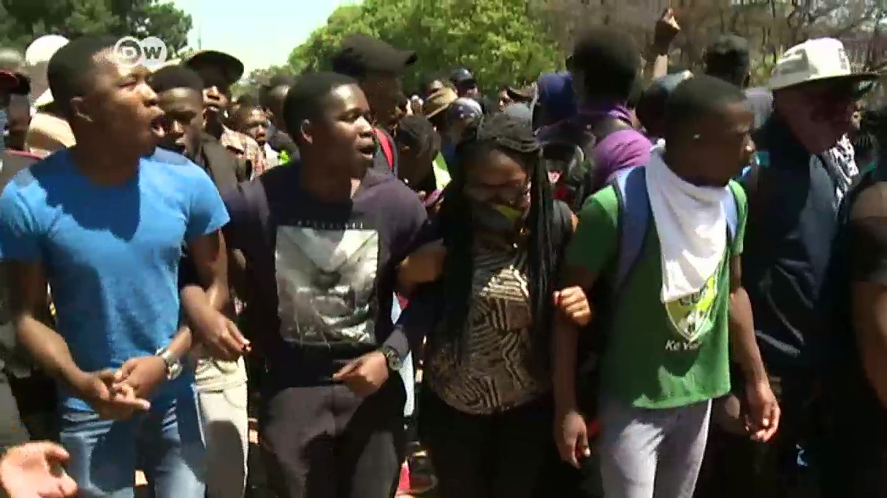 South African students protest hike in fees   DW News