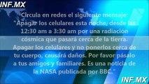 Radiación Cosmica apagar los celulares esta noche por una radiación cósmica