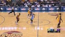 NBA Preseason:Nick Young hits a 3-Pointer(Nuggets vs Lakers)
