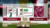 Somerset jolt Yorkshire title charge Yorks v Somerset