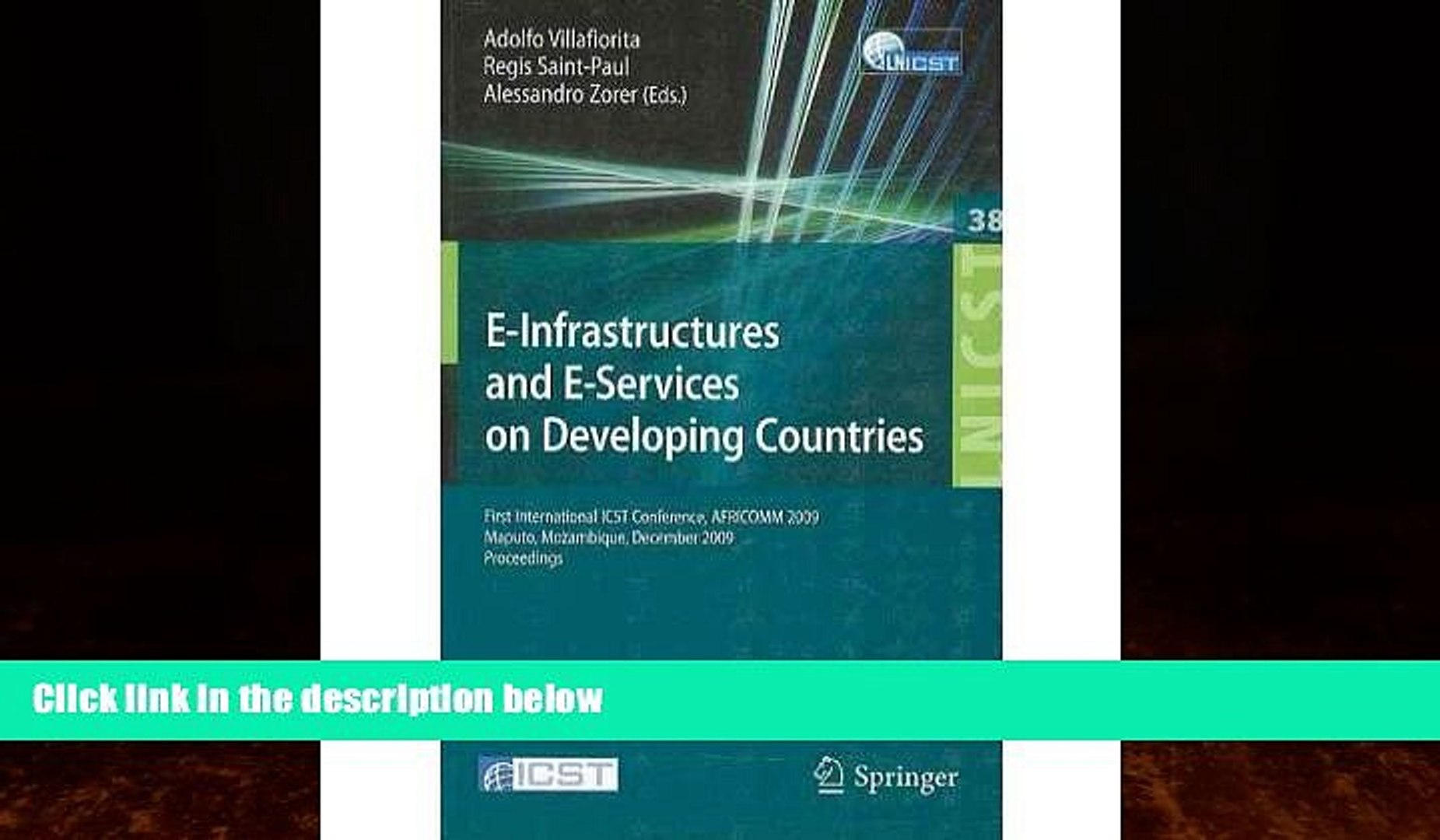 Big Deals  [(E-infrastructures and E-services on Developing Countries: First International ICST