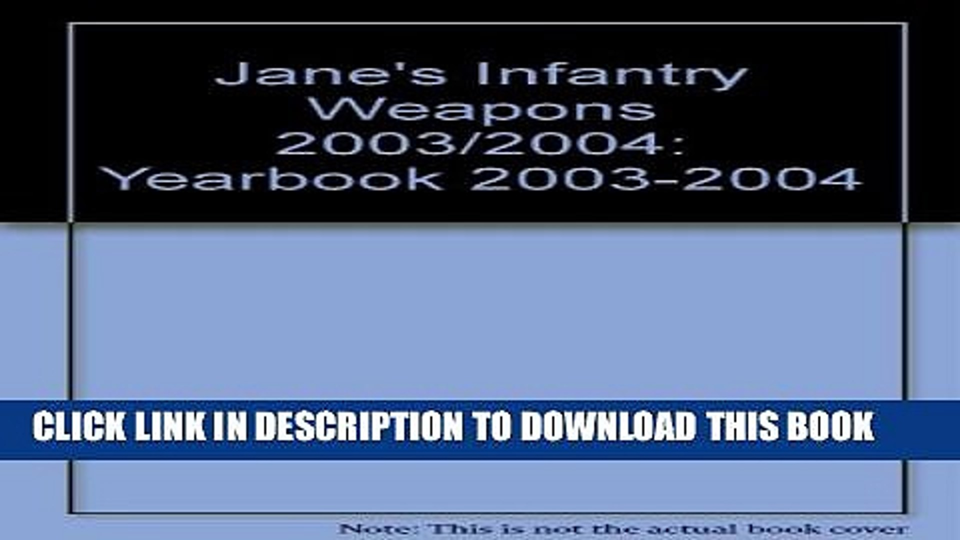 New Book Jane s Infantry Weapons, 2003-2004 (Jane s Infantry Weapons (Print Version), 2003 2004)
