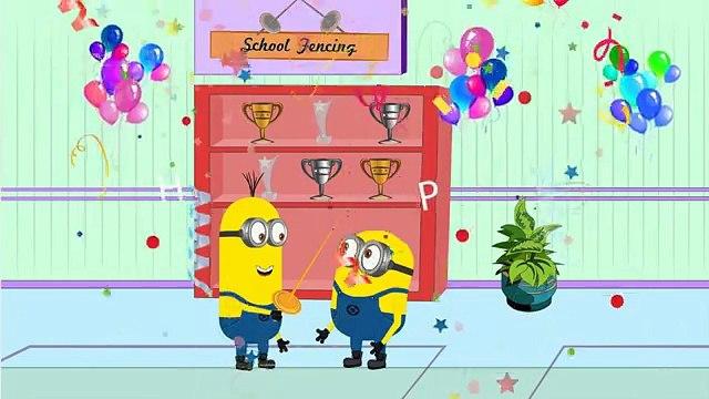 Minions Mini Movies 2016 ~  #Minions Fencing Banana Funny Cartoon [HD] 1080p