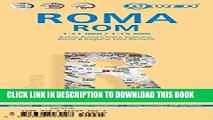 New Book Laminated Rome City Streets Map by Borch (English, Spanish, French, Italian and German