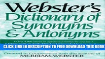 Must Have PDF Webster s Dictionary of Synonyms and Antonyms Full