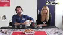 """VIDEO. Les chanteurs de la comédie musicale """"Résiste"""" rencontrent les lecteurs de la Nouvelle République"""