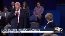 Presidential Debate - Donald Trump: Billy Bush follow up - Bill Clinton attacks - Hillary Clinton