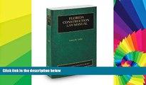 Full [PDF]  Florida Construction Law Manual, 2013-2014 ed. (Vol. 8, Florida Practice Series)