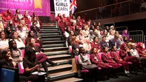 Michelle Obama links up with London schoolgirls
