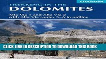 Collection Book Trekking in the Dolomites: Alta Via 1 And Alta Via 2 With Alta Via Routes 3-6 In