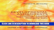 [PDF] Developmental Assignments: Creating Learning Experiences Without Changing Jobs (CCL) Popular