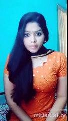 Tamil cute girl bharathi nazriya dubsmash from rajarani movie... 2016