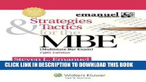 [PDF] Strategies   Tactics for the MBE, Fifth Edition (Emanuel Bar Review) Popular Colection