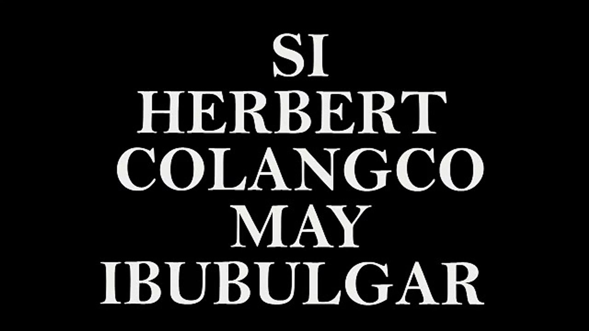 BREAKING NEWS! HERBERT COLANGCO IBINULGAR...