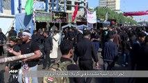 مئات الاف الزوار الشيعية يحيون ذكرى عاشوراء في كربلاء